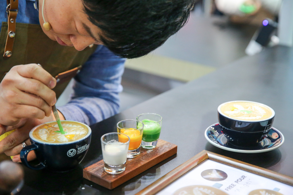 2016 World Latte Art Champion, Um Paul of South Korea